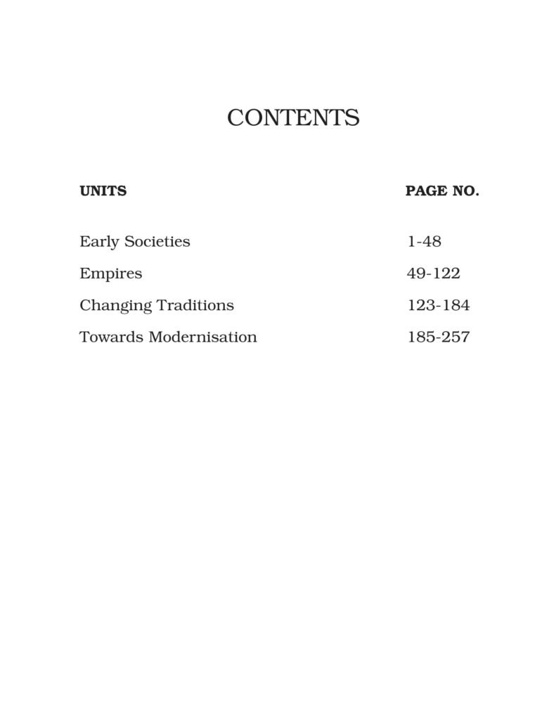 Class 11 History NCERT BOOK Themes In World History Contents