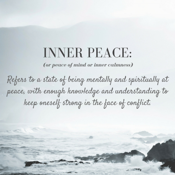 Inner Peace Peace of mind conflict from life