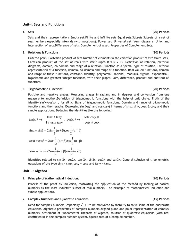 Cbse Syllabus For Class 12 Mathematics  Maths  2019