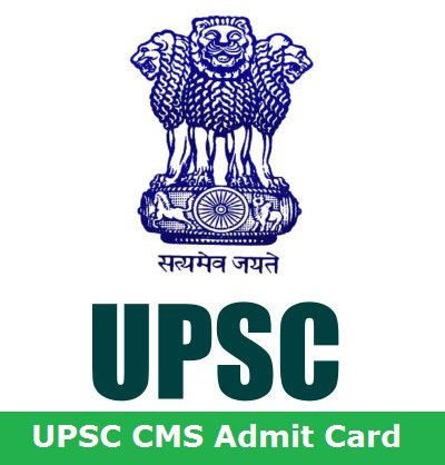 CMS Admit Card 2018 | UPSC Combined Medical Services Exam Download