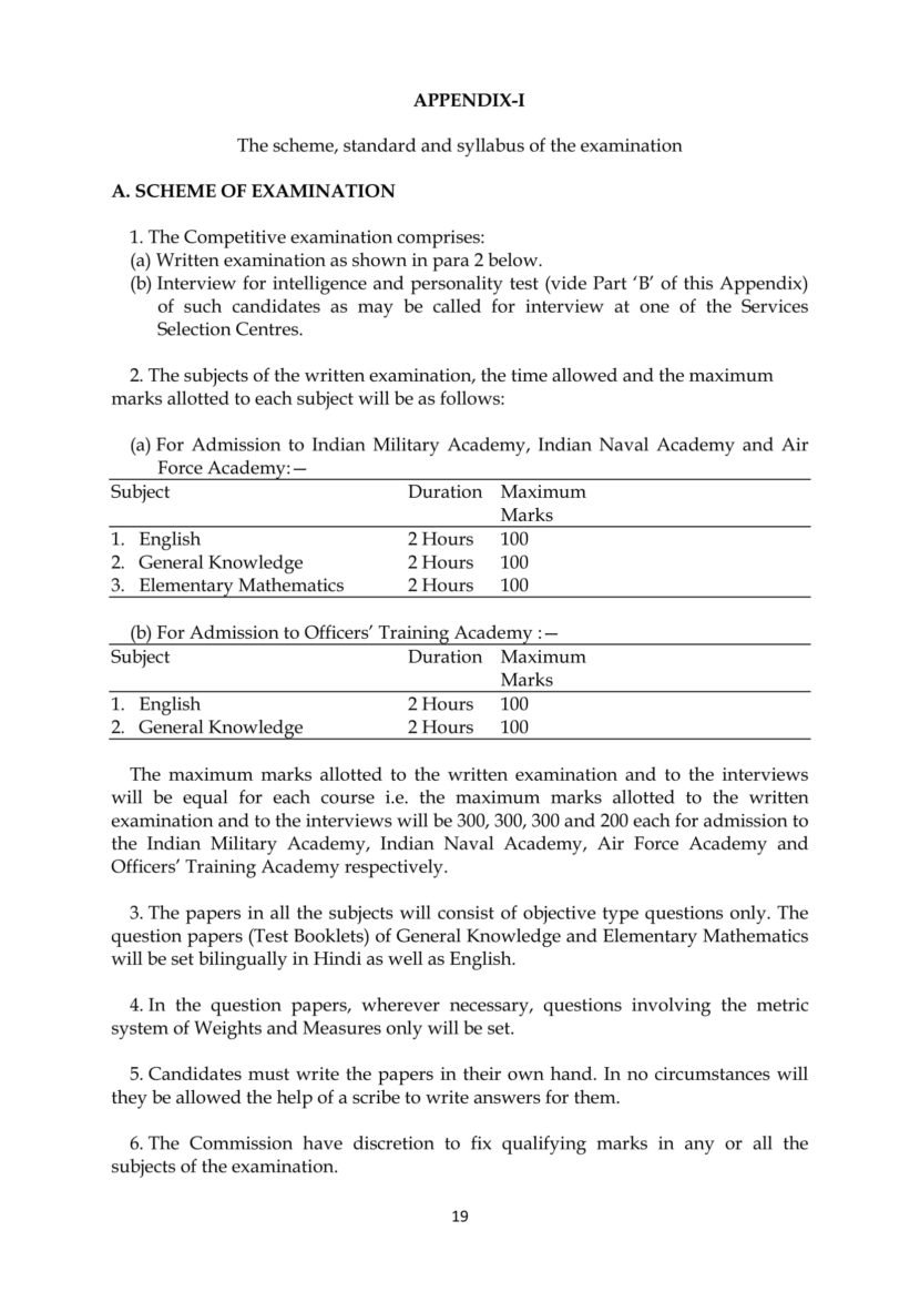 CDS 2 2018 Exam Pattern Combined Defence Services Scheme of Exam, Syllabus