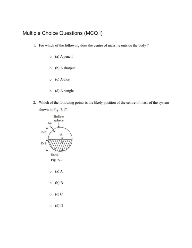 Important Questions For Class 11 Physics Ch 6 Work Energy and power