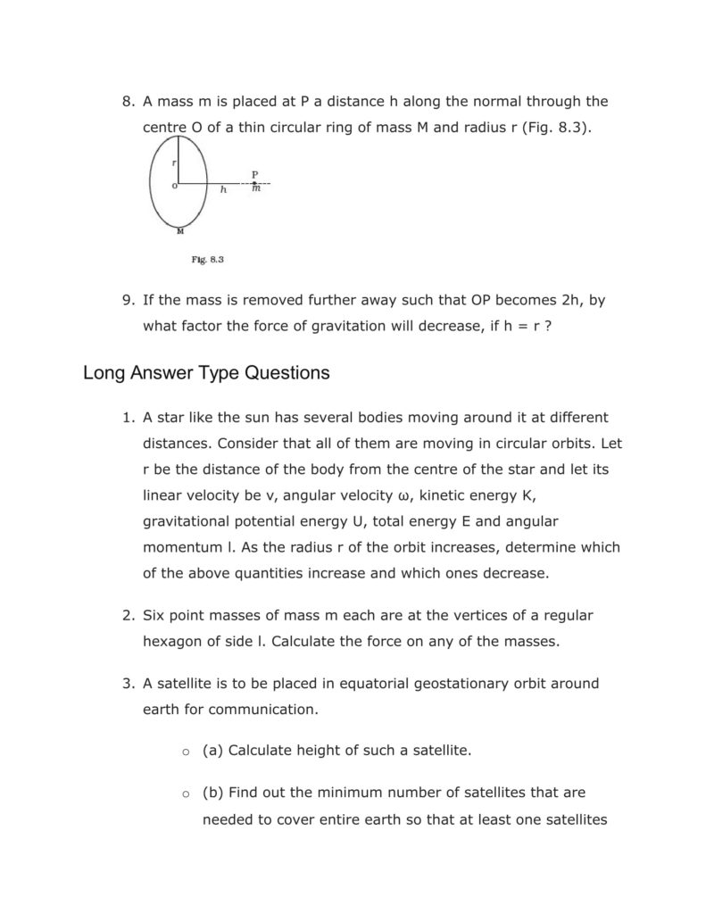 Important Questions For Class 11 Physics Chapter 7 System of particles and Rotational Motion