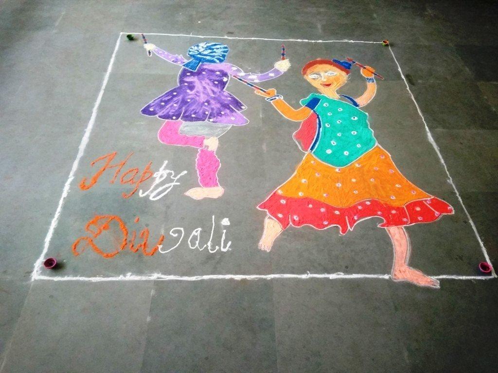 10-A DIWALI RANGOLI (NORTH-EX PUBLIC SCHOOL)