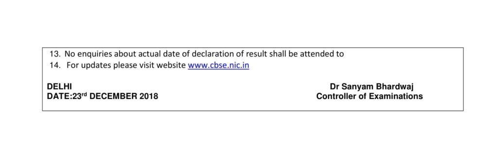 CBSE Class 10 Date Sheet For Board Exams 2019