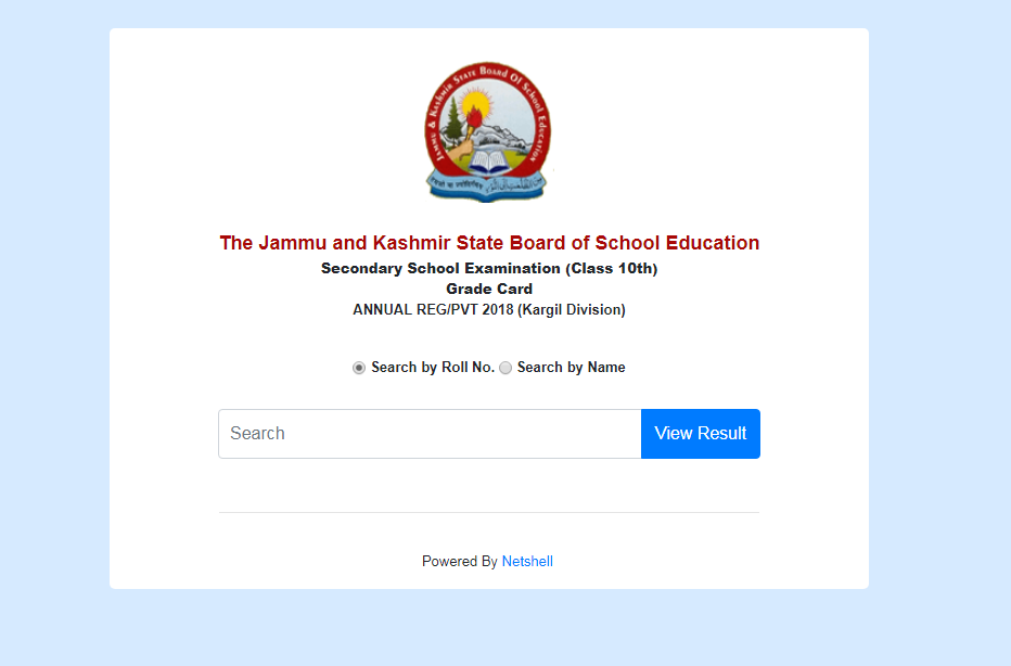 JKBOSE Class 10 Results 2018 - Kargil Division, Jammu & Kashmir Board (Annual Regular/ Private) | Announced