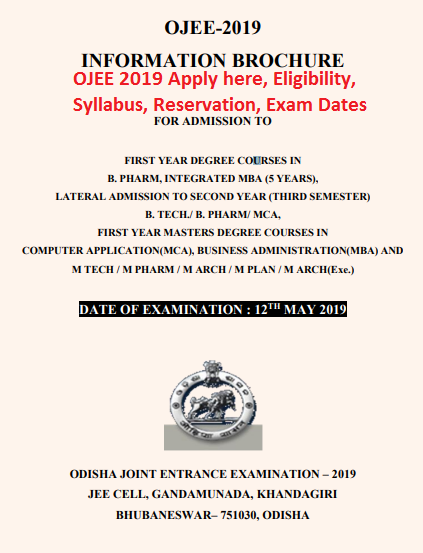 OJEE 2019 Apply here, Eligibility, Syllabus, Reservation, Exam Dates