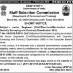 SSC JE 2019 Notification, Application, Eligibility Criteria, Junior Engineer Vacancy