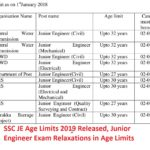 SSC JE Age Limits 2019 Released, Junior Engineer Exam Relaxations in Age Limits