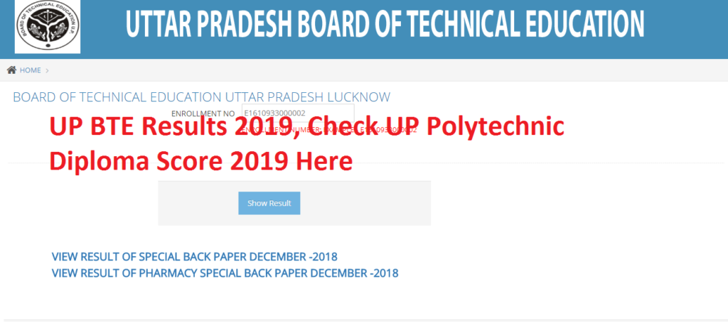UP BTE Results 2019, Check UP Polytechnic Diploma Score 2019 Here