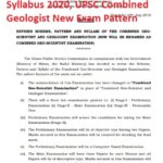 Revised Combined Geo Scientist Syllabus 2020, UPSC Combined Geologist New Exam Pattern
