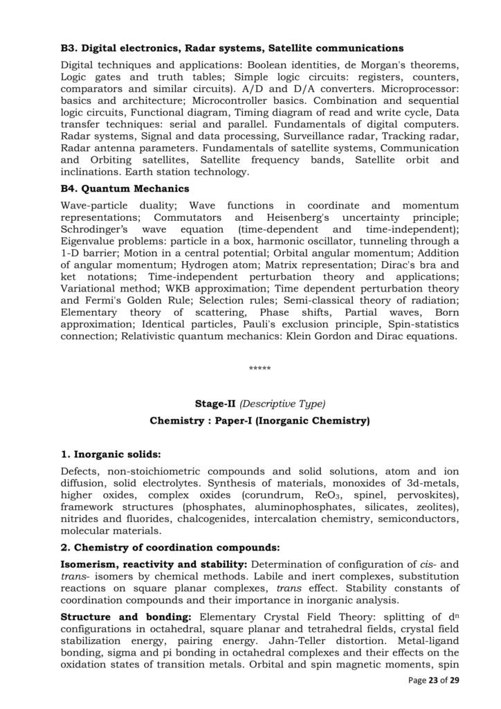 Combined Geo Scientist Syllabus 2020 - Revised, UPSC New Exam Pattern