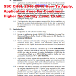 SSC CHSL 2018-2019 How To Apply, Application Fees for Combined Higher Secondary Level Exam