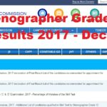 SSC Stenographer Grade C & D Final Results 2017 - Declared