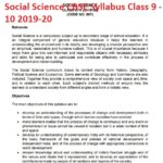 Social Science CBSE Syllabus Class 9 - 10 2019-20