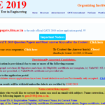 GATE Results 2019 Declared, Check your Rank Score Card @ gate.iitm.ac.in