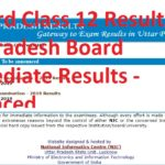 UP Board Class 12 Results 2019, Uttar Pradesh Board Intermediate Results - Announced