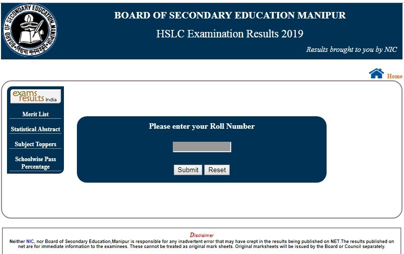 BSEM Class 10 Results 2019 Declared - Check HSLC Manipur Board Results