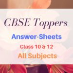 CBSE Topper Answer Sheets